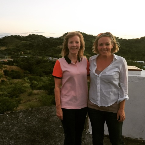 Kay Love and I standing on top of a water tower